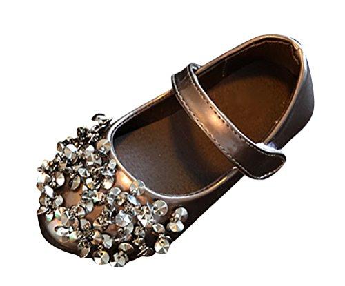 Brinny Baby M盲dchen Perle Pailletten Flach Ballerinas Schuhe Velcro Halbschuhe Gewehr