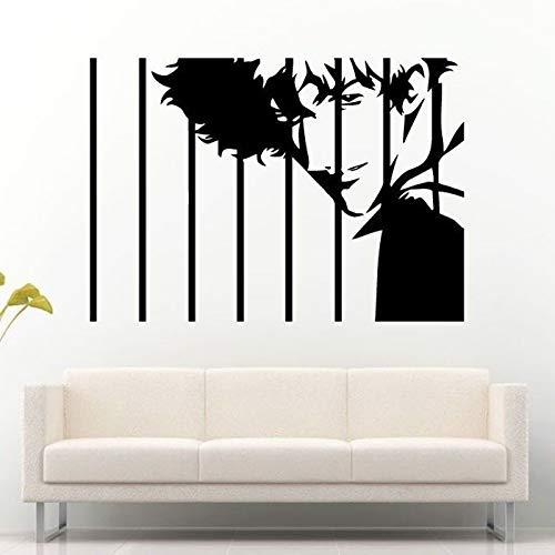yaoxingfu Mann Guy Boy Gefangener Hinter Gefängnis Bars Vinyl Entfernbare Wandaufkleber Für Wohnzimmer Tapete Abziehbilder Kunst Poster weiß 129x85 cm