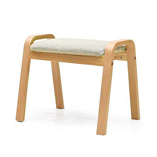 Möbelsets-LX Sofa-Schemel, quadratische Sitz-kompakte Schuh-Bank-Bank Osmanische aufgefüllte Sitzsofa-Feste hölzerne kleine Bank (Farbe : A) -