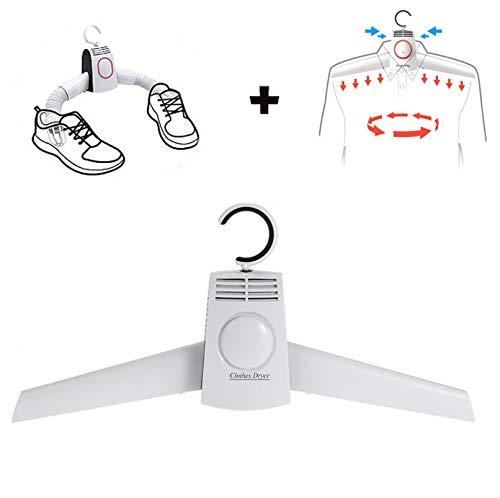 WYFC 2In1 Tragbare Elektrische Kleidung Trockner & Schuhe Trockner mit Mini-Mute Sterilisation Falten Schnell Trocknen Hänger