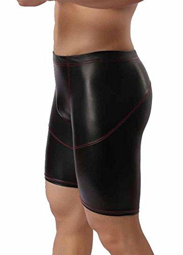 Vinyl-sitz Farbe (Verano Latex ähnliche Herren Shorts - Vinyl Wetlook Shorts (2XL))
