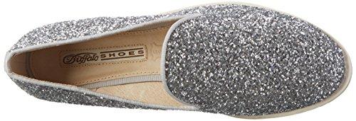 Buffalo Damen 15bu0091 Glitter Pu Slipper Silber (SILVER134)