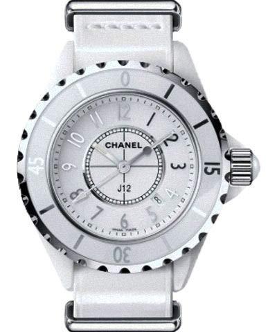 Chanel J12 - Orologio da donna con quadrante bianco H4656