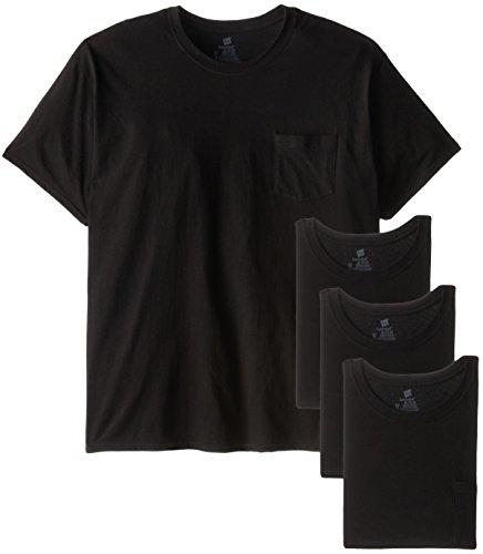 Hanes Herren Unterhemd Black