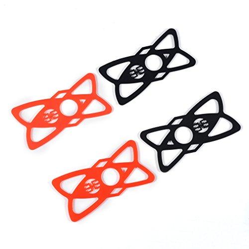 4 Rubber Riemen ausgerüstet,LESHP Silikon Bänder Ersatz Gummi für Bike Motorrad Lenker Roll Bar Mount Silikon Gummiband für Smartphones (Schwarz + Rot) (4 X 4-band)
