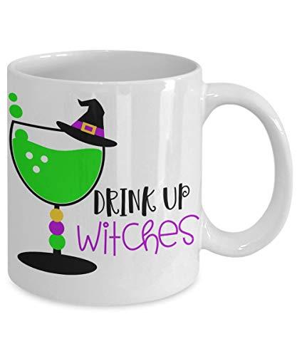 e mit Sprüchen Geburtstagsgeschenk Gothic Lustige Teetasse Drink Up Hexen Party Favors ()