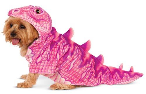 Rubies Costume Company Pink Dino Hoodie für - Dino Kostüm Für Den Hunde