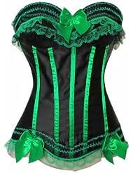 Valin Eleant bowknot Décor corset bustier,Vert