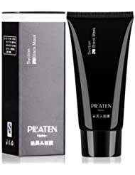 blackhead remover,Tearing style Deep Cleansing purifying peel off the Black head,acne treatment,black mud face mask 60g (PIL'ATEN) by HK supply