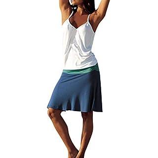 Gofodn Dresses for Women Summer Sexy Plus Size Casual Bohemia Sleeveless Splice Sling Dress Navy