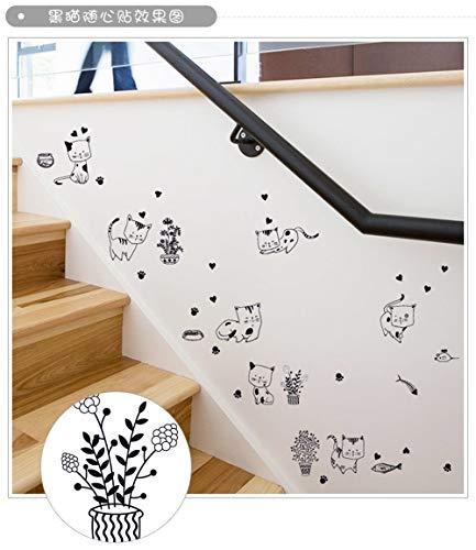 ck Cat Cute DIY Wand Aufkleber Für Kinder Zimmer Home Decor Art Aufkleber 3D Wallpaper ()