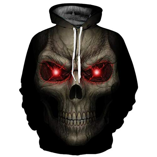 ZQWY Moda 3D Imprimir Hoodies Hombres/Mujeres Thin Cool 3D Sudaderas Big Red...