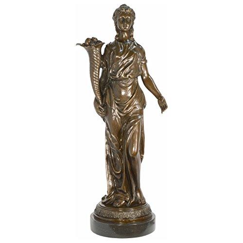 r Bronze Skulptur griechische Göttin Frauen Bronzestatue 86cm mit Füllhorn ()