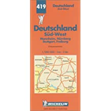 Michelin Karten, Bl.545 : Deutschland Süd-West (Michelin Map)