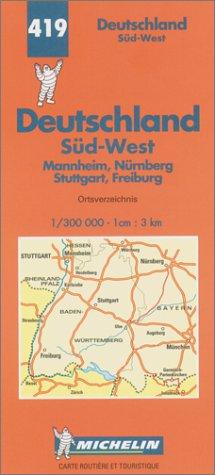 Carte routière : Allemagne Sud-Ouest, N° 419