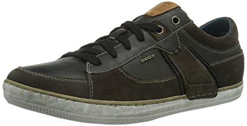 Geox U Box, Sneaker a Collo Alto Uomo Grigio (Mud/Black C6524)