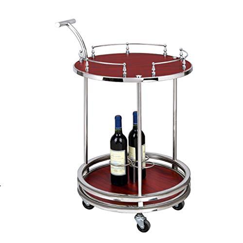 Chariot de service, Organisateur de rangement pour tablettes utilitaires, Casse-croûte vin thé café boissons chariot, Lieux haut de gamme / Bar à vin / Salon / Cuisine / Salle de bain (2 styles)