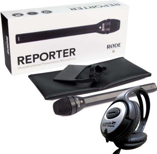 Rode Reporter Reportagemikrofon Broadcast-Mikrofon + Keepdrum Kopfhörer