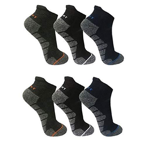 Palleon 6 Paar Herren Thermo Sneaker Socken Winter Strümpfe 43-46 / mehrfarbi