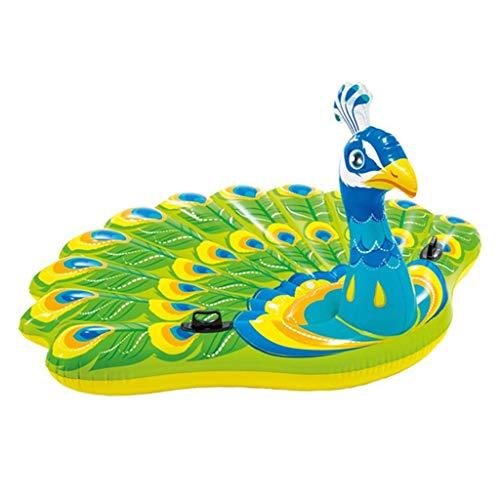 Pfaureiten Schwimmbadkissen Tierhalterung Aufblasbare Poolspielzeug Strandmatte Aufblasbarer Sessel Wasserbett Traglast 200kg (Color : Color, Size : 193 * 163cm)