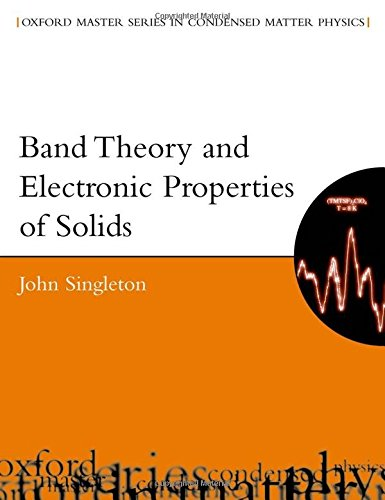 Band Theory and Electronic Properties of Solids (Oxford Master Series in Condensed Matter Physics) por John Singleton