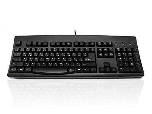 Accuratus black Arabic ps2usb keyboard
