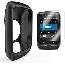 Garmin Edge 510 Funda de Silicona + Protector de Pantalla, TUSITA® Paquete de Protección de Reemplazo Funda Suave Accesorios para Garmin Edge 510 GPS Bike Computer (BLACKROSA)