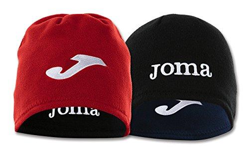 Joma 400038700 - Cappello in pile reversibile, colore azzurro / nero.  Taglia S ROJO