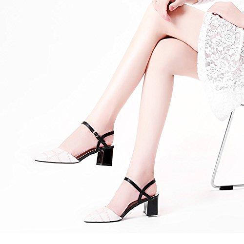 Estate moda donna sandali comodi tacchi alti,35 nero apricot