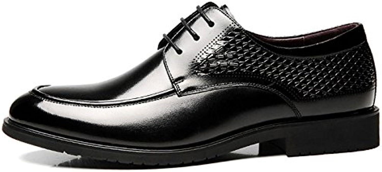 Herren Spitzschuh Schnürschuhe Abendtasche mit Party Derby Schuhe Herren Flach mit Oxfords Kleid Büro Klassischer