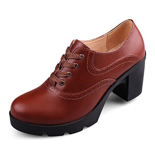 high heels en Angleterre/Chaussures à semelles épaisses/chaussures de confort professionnel/Chunky talons chaussures de Dame avec tête ronde/Les souliers B