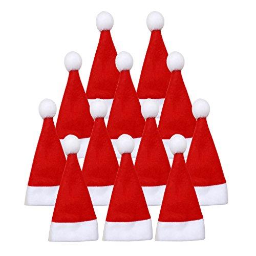 AIYUE® 12Pcs Weihnachtsdeko Tischdeko Bestecktasche Flaschenbeutel Tische Accessoires Heiligabend Weihnachten Geschirr Flasche Sets Dekoration