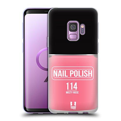 Head Case Designs Misty Rose Nagellack Soft Gel Huelle kompatibel mit Samsung Galaxy S9