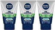 Nivea Oil Control Face Wash, 100ml (Pack of 3)