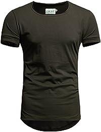 491154092fcfdd Crone Keno Herren Kurzarm Rundhals Basic Oversize Slim Fit T-Shirt in  vielen Farben