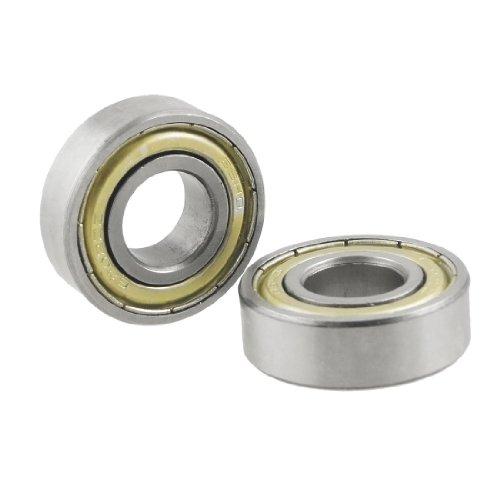 sourcingmap® 2 Pcs 6202 Dual Metal Shields Deep Groove Ball Bearing 15mm x 35mm x 10mm