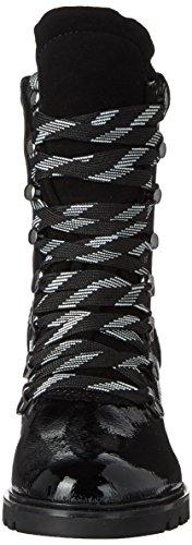 Kendall and Kylie Kkspencer4, Bottes Motardes Femme Noir (Black Multi Naplack Patent)