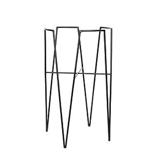mica decorations 1006652 blom pflanzenst nder metall schwarz 29 5 x 29 5 x 50 cm. Black Bedroom Furniture Sets. Home Design Ideas