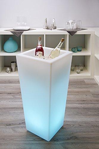Wieder erhältlich - Tolle Geschenkidee - Großer LED Sektkühler eckig - Weinkühler - Edler...