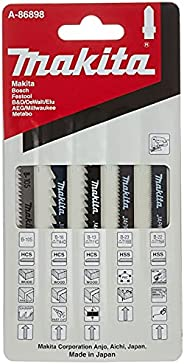 Makita A-86898 Jigsaw Blades Assortment, Multi-Colour