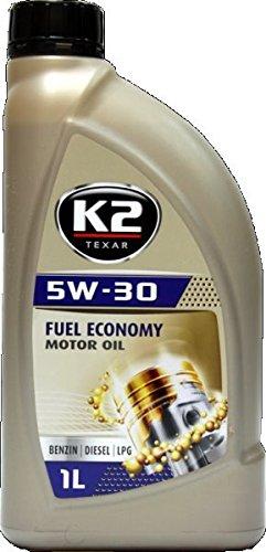 K2 | Motoröl, 5W-30, halb synthetisch mit Nanotechnologie, für Diesel, Turbo Diesel, Benzin und LPG Motoren geeignet, 5W30, 5W-30