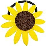 DZT1968 10PCS Kids Sun Flower Hairband Hair Clip Barrette Hairpin Ponytail Holder Band (Yellow)