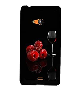 Fuson Premium Wine Metal Printed with Hard Plastic Back Case Cover for Microsoft Lumia 540