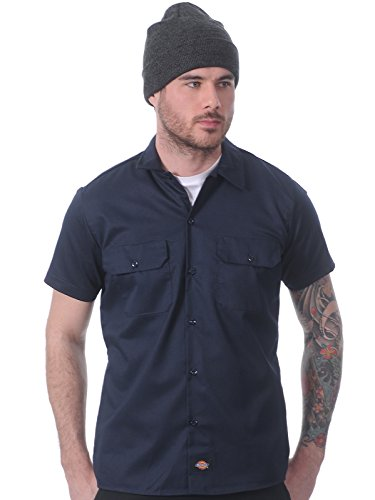 Dickies - Chemise casual - Taille normale - Manches courtes - Homme Bleu Marine