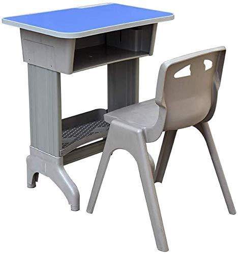 Oanzryybz Mesas de Escritorio Juego de sillas Mobiliario Escolar, Altura Ajustable Aula...