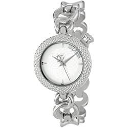 Just Cavalli Lily Women's Quartz Watch with Silver Dial Analogue Display and Silver Stainless Steel Strap R7253137615