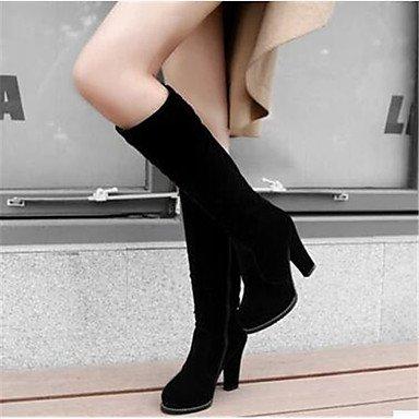 GLL&xuezi Da donna Stivaletti Comoda Pelle nubuck PU (Poliuretano) Autunno Inverno Casual Nero 10 - 12 cm black