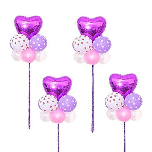ex Party Hochzeit Herzförmige Stern Ballons Arrangieren in Gruppen (Partei-versorgung-großhandel)