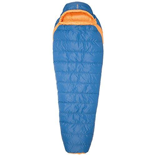 Exped Versa Mummy +5° bis Körpergröße Schlafsack 180 cm (M) cm blau, Reißverschluss Schlafsack Links