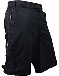 Polaris descenso para hombre mtb para bicicleta de montaña/ciclismo pantalones cortos pequeño negro